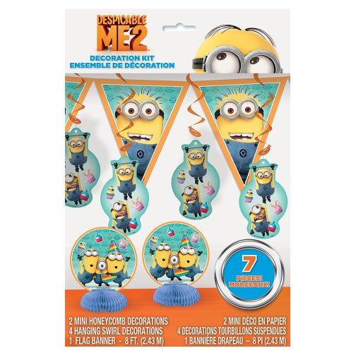 Despicable Me Birthday Party Supplies (Despicable Me Party Decoration Kit, 7pc)