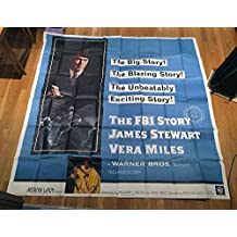 The Fbi Story (1959) Original Six-Sheet Movie Poster 81x81 inches LARGE FORMAT POSTER AVERAGE USED CONDITION. JAMES STEWART Film Directed by MERVYN LE ROY