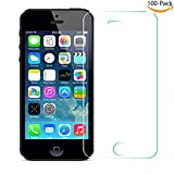 (100-PACK)(Wholesale) GSPSTORE 9H Hardness 0.3mm 2.5D Rounded Edge Tempered Glass Screen Protector Film for iPhone 5 iPhone 5s iPhone 5c iPhone SE