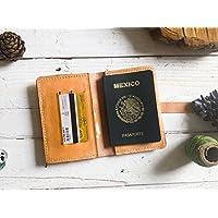 Porta pasaporte 100% piel color durazno viajes viajero