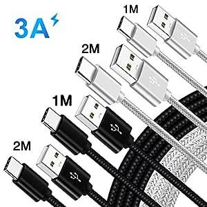 Cable Cargador Rapido para Movil Xiaomi Mi A3 A2 9T Pro Mi9 Redmi Note 7 8 Pro 8A,Pocophone F1 Mi 8 Pro Mi 9 SE Lite,USB Tipo C Carga Rápida 3.0 para ...