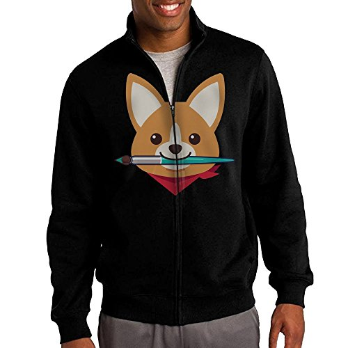 Men's Welsh Corgi Solid Stand Collar Zipper Jacket Size XXL - Make Lego Costume Youtube