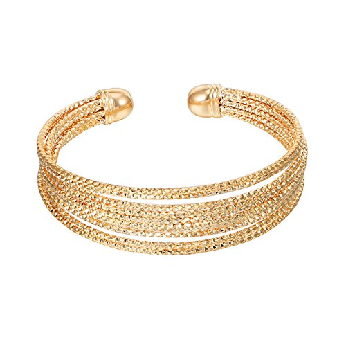 Ablaze Jin women jewelry gold plated bracelet multi-layer bracelet simple creative wristband,Kc gold