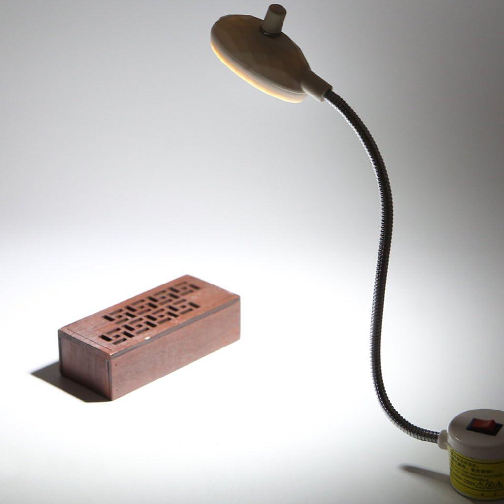 L/ámpara con 19 LED de brillo ajustable para m/áquina de coser con luz y cuello de cisne y base magn/ética