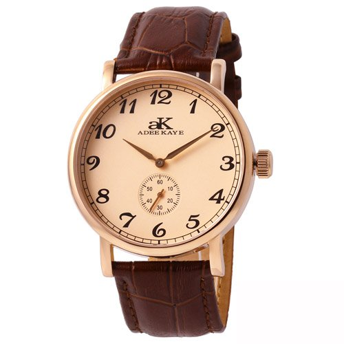 Adee Kaye Men's Vintage Mechanical Japan Movement Watch AK9061-MRG-RG