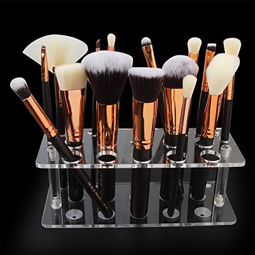Make Up Pinselhalter - Desktop Pinsel Display Ständer - 20 Löcher Kosmetik Organizer Klar Kunststoff Lip Liner Make-up Organizer Home Storage