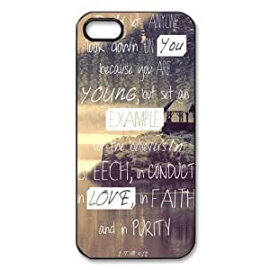 Christian Jesus Bible Verse Hard Plastic Cover Snap On Iphone 5/5S Case,Best Durable Iphone Case,Bible Verse Iphone Case