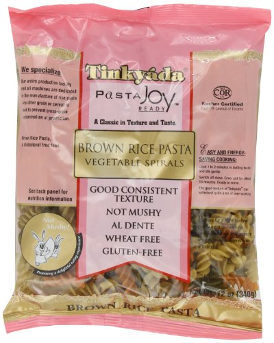 Tinkyada Brown Rice Pasta, Vegetable Spirals, 12 Ounce (Pack of 12)