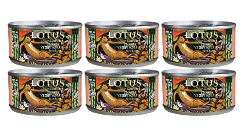 Image of Lotus 2.75 Oz Grain Free Turkey & Vegetable Pate for Cats (Pack of 6)
