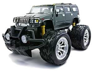 High Detail Bigfoot Hummer H2 (Glay) (27MHz/A-D) (RC Model) by Kyosho