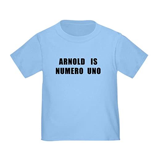2a8d014066be3 Amazon.com  CafePress - Arnold is Numero Uno Toddler T-Shirt - Cute Toddler  T-Shirt