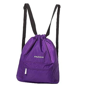 Prettyia Swim Bag Drawstring Beach Bags Waterproof Sports Dance Storage  Backpack - Purple  Amazon.ca  Sports   Outdoors 6a7b98f3af743