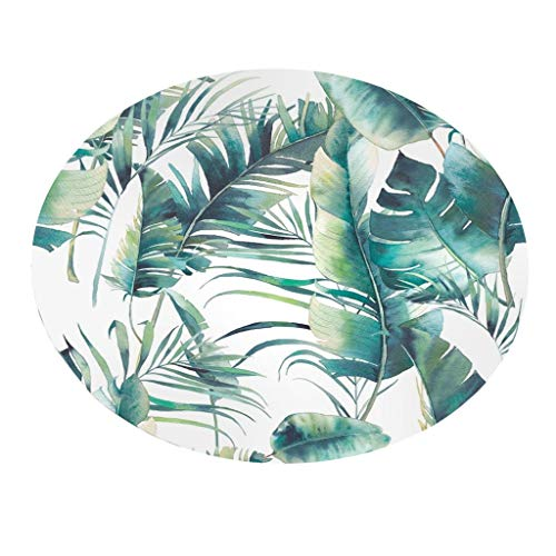 LUXISDE Ultramall A4 Botany Elements Blanket Round Bathroom Carpet 55cm ()