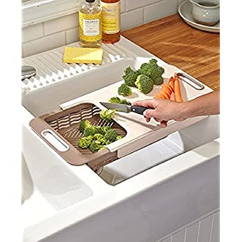 Amazon Com Large Over Sink Cutting Board Plastic