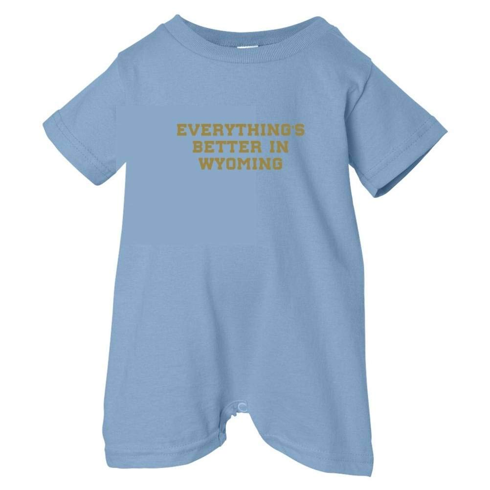 Mashed Clothing Unisex Baby Everythings Better Wyoming T-Shirt Romper