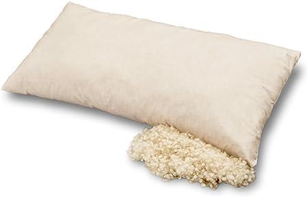 Las almohadas hechas de algodón orgánico y lana orgánica, Baumberger, Kissengröße:40x80: Amazon.es: Hogar