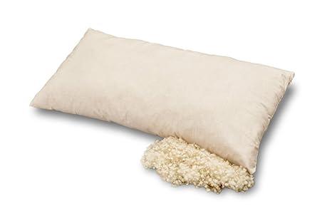 Las almohadas hechas de algodón orgánico y lana orgánica, Baumberger, Kissengröße:40x60: Amazon.es: Hogar