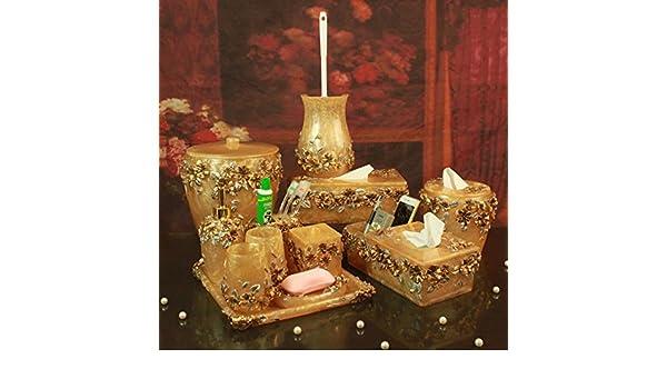 VU * LK baño amenity Kit Resina Romántico Señor Casa Amarillo Juego de 12: Amazon.es: Hogar