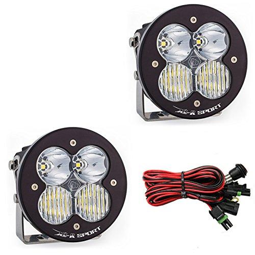 Baja Designs XL-R Sport LED Pair Driving//Combo Light Kit /& Rock Guards Black