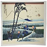 3dRose qs_163292_10 Image of Japanese Landscape Painting Quilt Square, 25 by 25