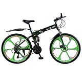 Altruism X9 Folding Bicycles for Mens 21speed 26 Inch Aluminum Road Bicycle Mountain Bike Downhill White Black Ce Rohs (ArmyGreen, 21 speed)