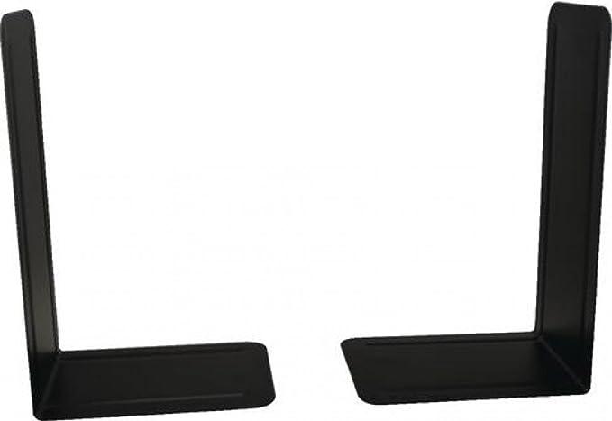 colore nero confezione da 2 pezzi Hangzhou Topline fermalibri in metallo resistente 140/mm