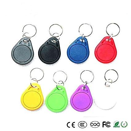 100pcs RFID Keytag 125KHz RFID Tag Token Key Ring IC tags compatible part  of RFID products