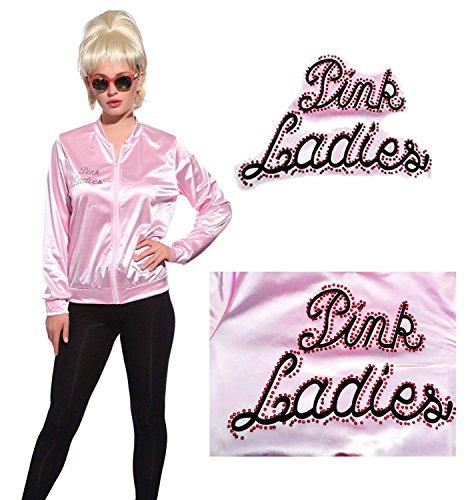 Hofolio 1950s Pink Ladies Rhinestone Jacket Outifit with Poodle Dress by Hofolio (Image #2)