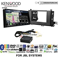 Volunteer Audio Kenwood Excelon DNX994S Double Din Radio Install Kit with GPS Navigation Apple CarPlay Android Auto Fits 2011-2014 Toyota Sienna with Amplified System