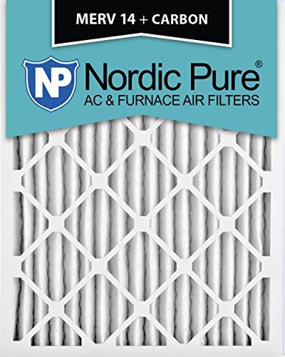 Nordic Pure 18x25x2M14+C-3 MERV 14 Plus Carbon AC Furnace...