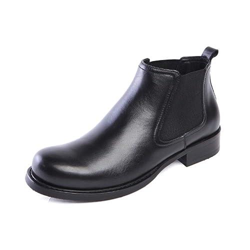 Zapatos De Cuero para Hombres Zapatos De Tacón Alto Cabezas Redondas Juegos De Pies Botines De Estilo Europeo Ambiente De Tendencia Cómodo: Amazon.es: ...