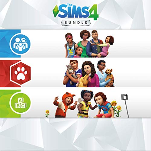 The Sims 4 Bundle - Cats & Dogs + Parenthood + Toddler - PS4 [Digital Code] (Sims 4 Cats And Dogs Game Code)