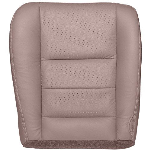 2002-2004 Ford F250/F350 Lariat Crew Cab (Bucket or 40/20/40) Driver Bottom Perforated Replacement Seat Cover - Medium Parchment (Tan) Leather
