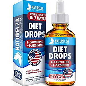 Weight Loss Drops – Made in USA – Best Diet Drops for Fat Loss – Effective Appetite Suppressant & Metabolism Booster – 100% Natural, Safe & Proven Ingredients – Non GMO Fat Burner – Garcinia Cambogia