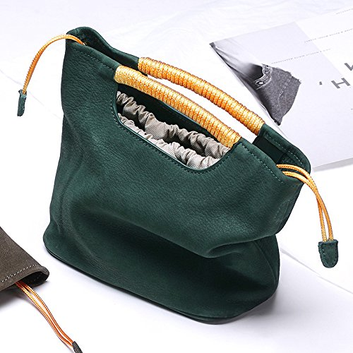 Borsa In Mano Pelle Green Vintage Diagonale Tracolla A H7xrHRq
