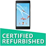 (CERTIFIED REFURBISHED) Lenovo Tab 7 Tablet (6.98 inch, 16GB, Wi-Fi + 4G LTE, Voice Calling) Black