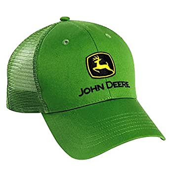 John Deere Green Cloth and Mesh Cap