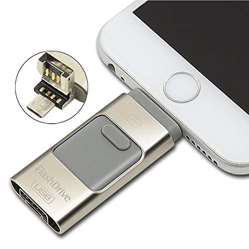 Price comparison product image ECVISION USB Flash Drive 3 in 1 USB2.0 iStick USB OTG Flash Drive with 8 pin Lightning Connector for iPhone 6 6S 5 5S 5C IPAD, iPad mini iPad air iPod Touch (64G)