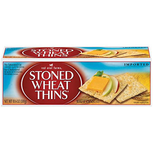 Red Oval Farms Stoned Wheat Thin Crackers, 10.6 Ounce (Pack of 12)