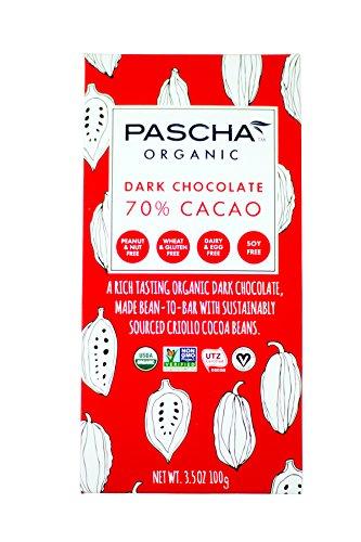 PASCHA Organic Dark Chocolate Bar - 70% Cacao - 3.5 oz