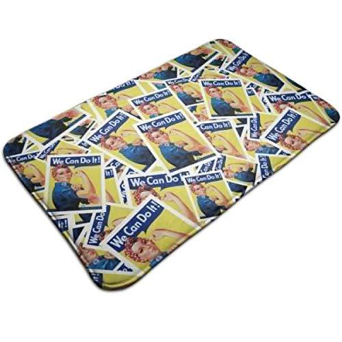 CYISOK Bath Mats Non-Slip Mats Rosie The Riveter Doormats Super Absorbent Indoor/Outdoor Uses 19.5