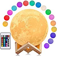 Lámpara de Luna, AGM 16 Colores LED Luz Luna, 15cm Lampara Luna Nocturna Control…