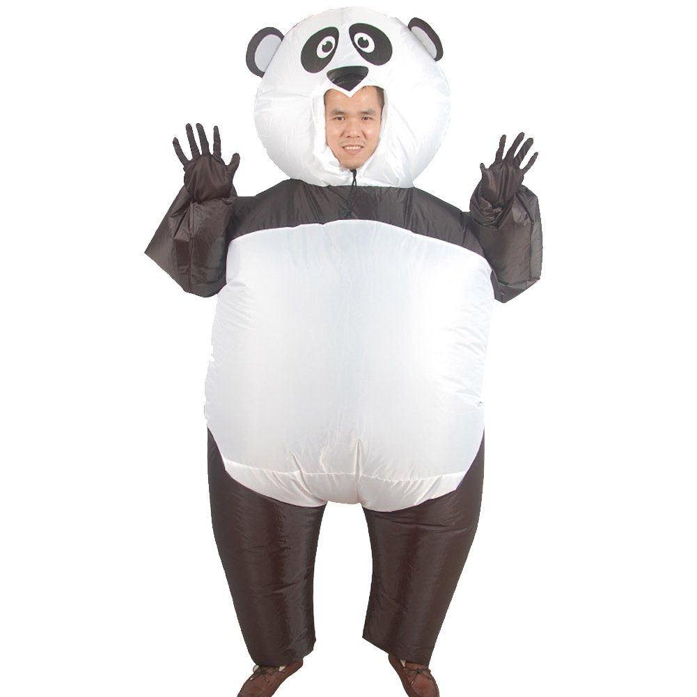 H&ZY Inflatable Halloween Costume Adult and Children Carry On Animal Fancy Dress Costumes Panda