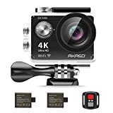 #10: AKASO EK7000 4K Action Camera WIFI Ultra HD Waterproof Sports DV Camcorder 12MP 170 Degree Wide Angle 2 inch LCD Screen/2.4G Remote/2 Rechargeable Batteries/19 Mounting Kits-Black (2017 Version)