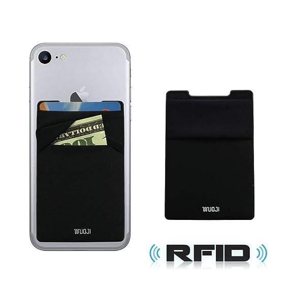 Cell Phone Card Holder >> Amazon Com Wuoji Phone Card Wallet Ultra Slim Self Adhesive