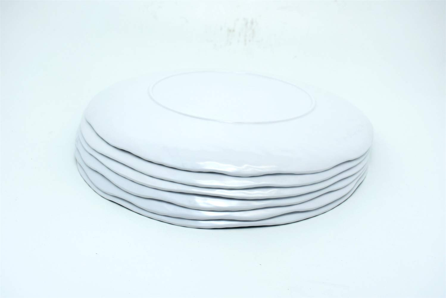 6 White Nautical Rope Melamine Dinner Plate 11 Inches 6 Pack
