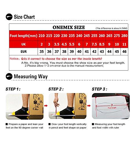 Onemix Signore Scarpe Sportive Cuscino Daria Corridori Fitness Strada Da Corsa Nero / Viola