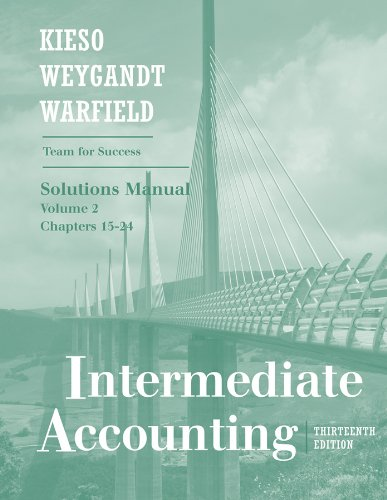 Read Online Intermediate Accounting (Solutions Manual, Volume 2 Chapters 15-24) pdf