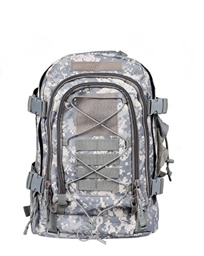 - Military Expandable Tactical Rucksacks Backpacks with Hydration & Laptop Compartment Survival Kit Paintball Hiking Climbing Shooting Camping Outdoor Sports - Color ACU