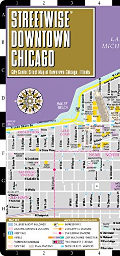 Streetwise Downtown Chicago Map - Laminated Street Map of Downtown Chicago, Illinois